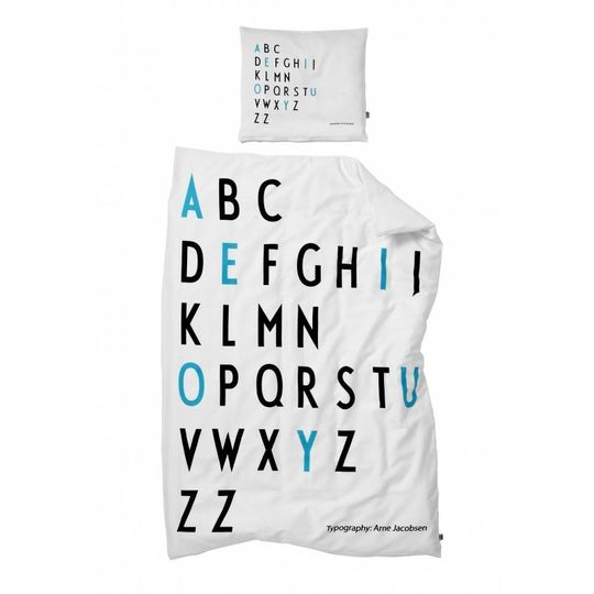 design letters junior dekbed turquoise -20%