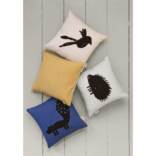ferm living fox pillow blue