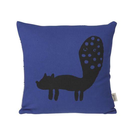 ferm living fox kussen blauw
