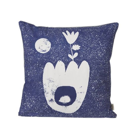 ferm living landscape pillow blue