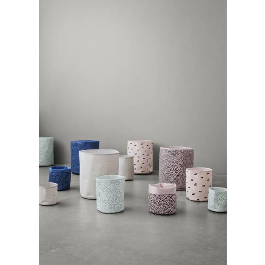 ferm living mini mandje grey cross
