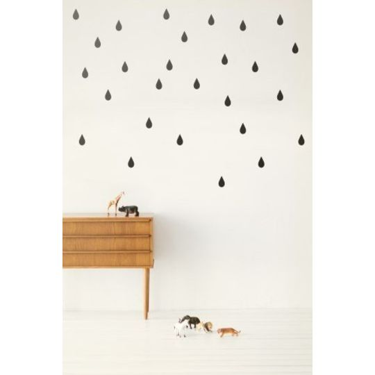 ferm living drops black wallstickers