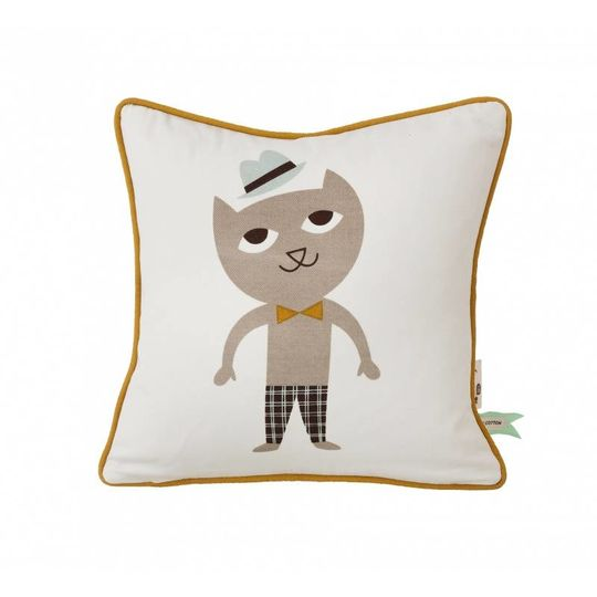 ferm living cat pillow