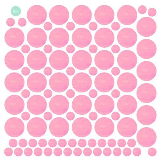 love mae stippen roze muurstickers