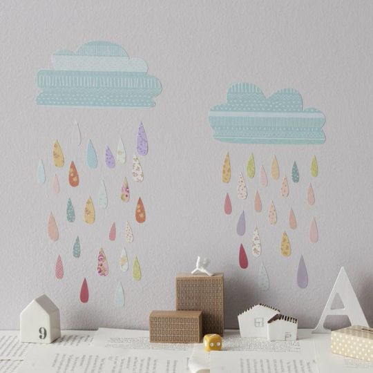 love mae summer rain wall decals