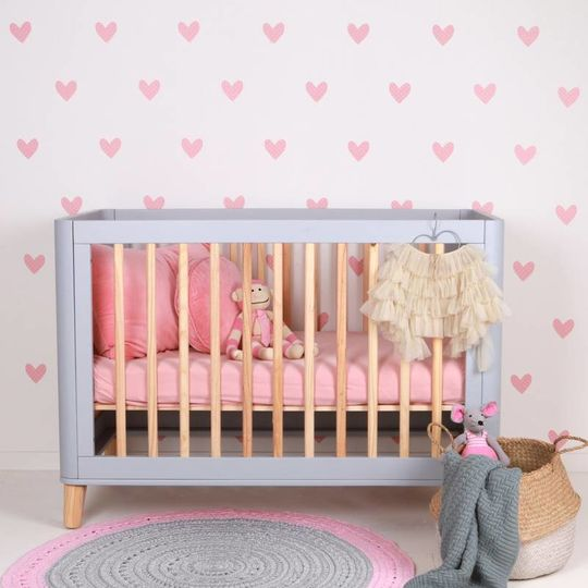 love mae pink hearts wall decals