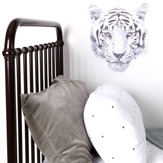 love mae tijger muursticker