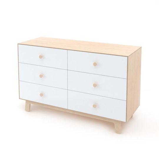oeuf nyc merlin 6 drawer dresser sparrow birch white