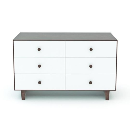 oeuf nyc merlin 6 drawer dresser rhea walnut white