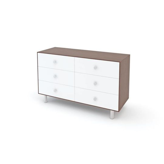 oeuf nyc merlin 6 drawer dresser classic walnut white
