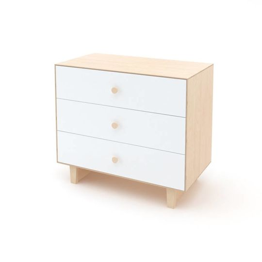 oeuf nyc merlin 3 drawer dresser rhea birch white