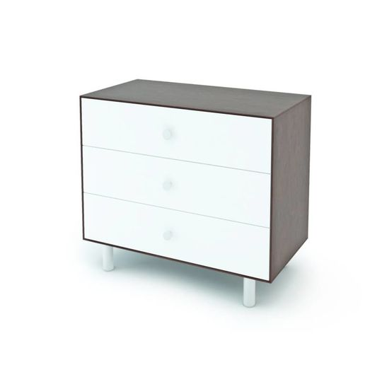 oeuf nyc merlin 3 drawer dresser classic walnut white