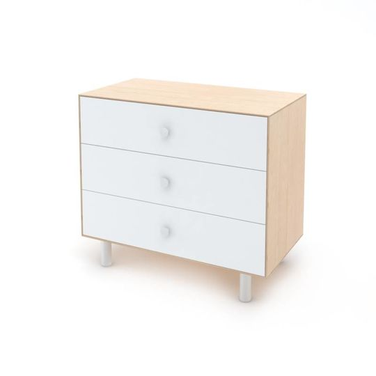 oeuf nyc merlin 3 drawer dresser classic birch white