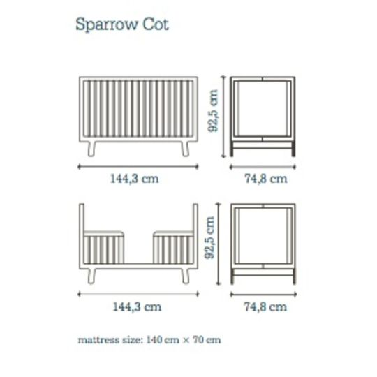 oeuf nyc sparrow crib birch