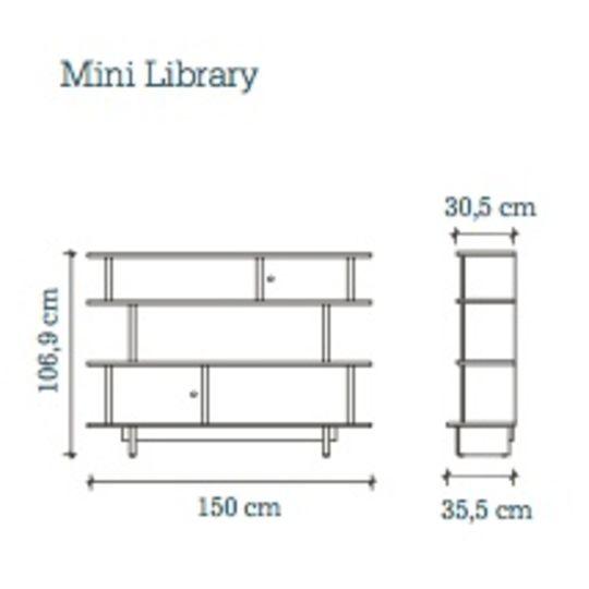 oeuf nyc mini library birch - white