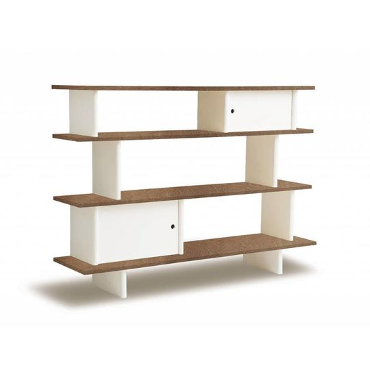 oeuf nyc mini library walnut - white
