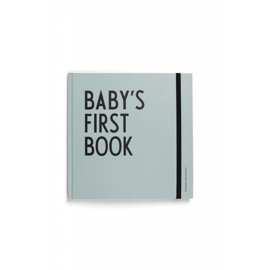 design letters baby's first book turquoise