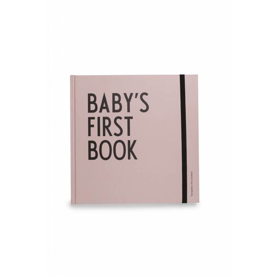 design letters baby's first book roze