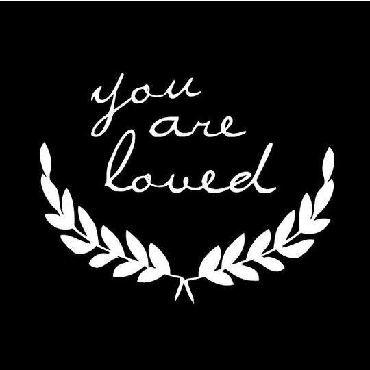 shanna murray you are loved wall sticker lowercase white