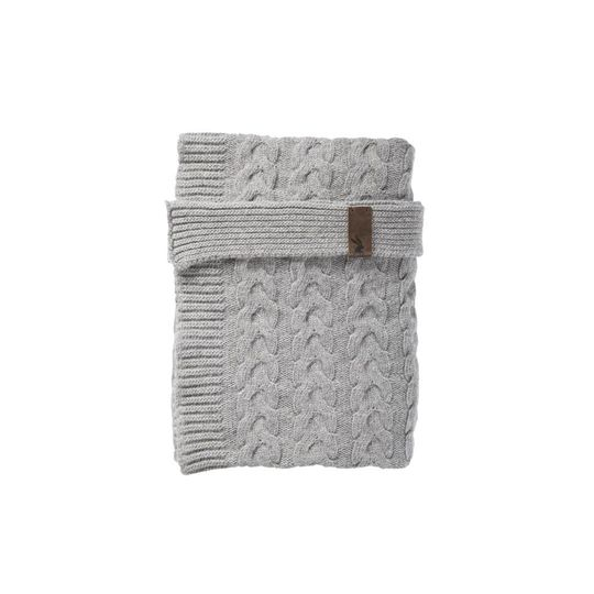 mies & co baby wieg dekentje soft grey