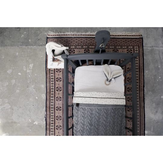mies & co baby crib blanket gray