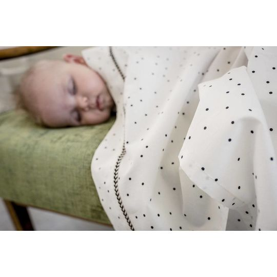 mies & co crib sheet adorable dot