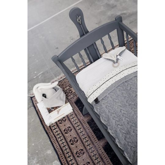 mies & co teething ring soft gray