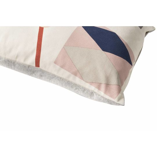 ferm living party drum cushion off white