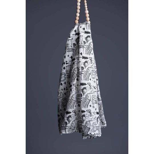 wee gallery organic swaddle animals