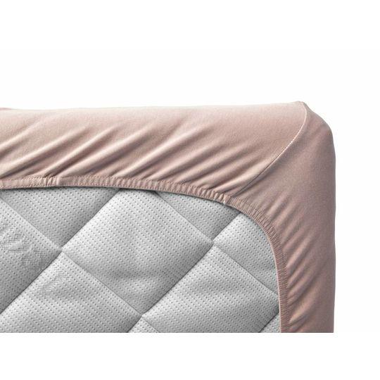 leander hoeslaken set van 2 roze 60x120 cm