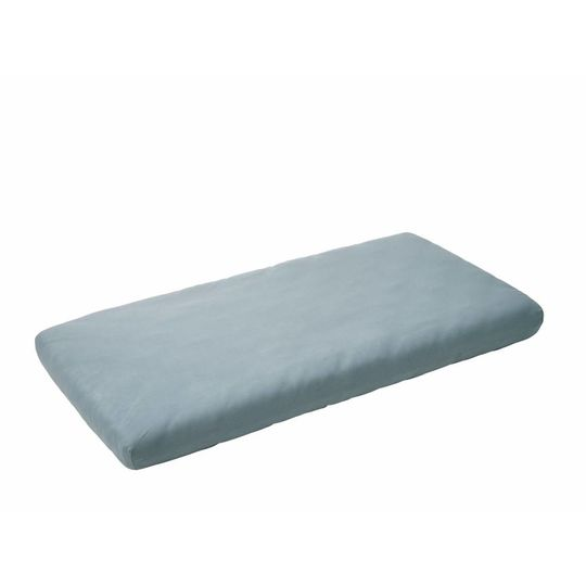 leander fitted sheet set of 2 misty blue 60x120 cm