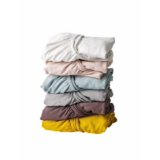 leander fitted sheet set of 2 grijs 60x120 cm