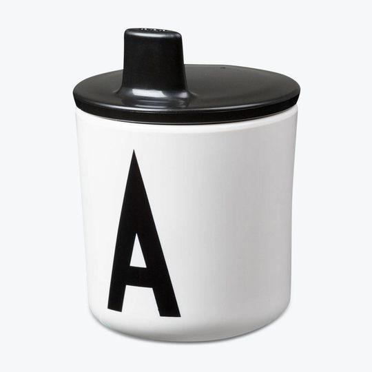 design letters lid for cup black