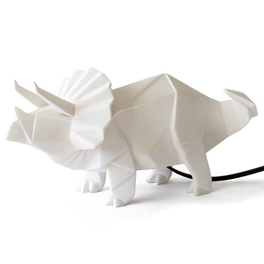 disaster designs origami lamp triceratops white