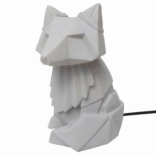 disaster designs origami lamp light gray fox