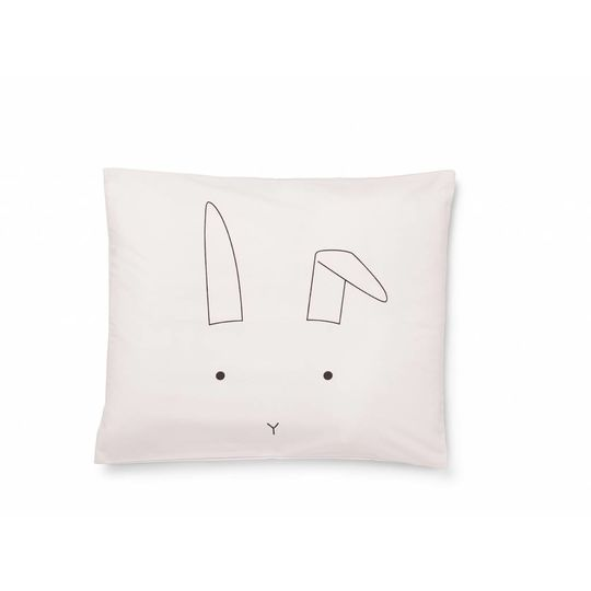 liewood duvet cover rabbit sweet pink - junior