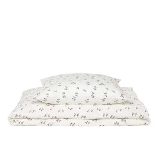 liewood duvet cover paperplane creme - adult