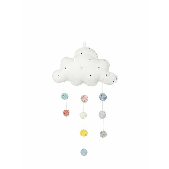 liewood mobile cloud big dot creme