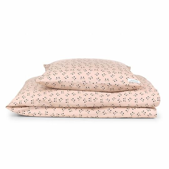 liewood duvet cover cat rose blush - adult