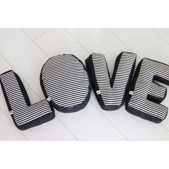cozykidz letter pillow black - Copy