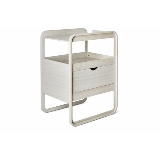 ollie | s | out commode milky white changer SHOWMODEL