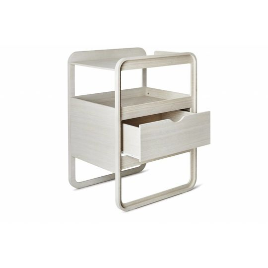 ollie | s | out changing table milky white changer SHOWMODEL
