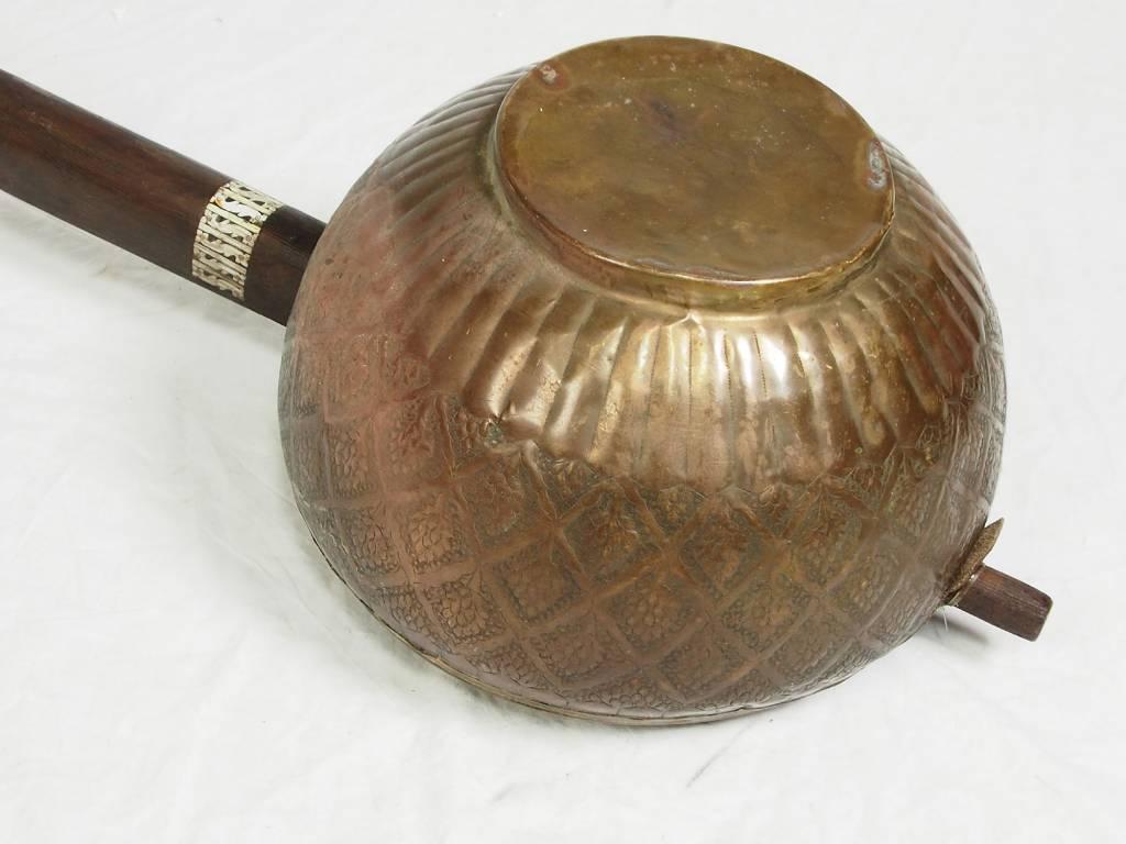 antique afghan folk music instrument Tambur Tanbur tanboor from Afghanaistan  corpus from copper تنبور No:17/3