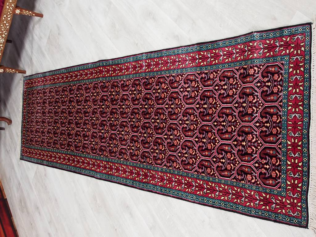 306x78 cm Kashmirseide Teppich Nr:107