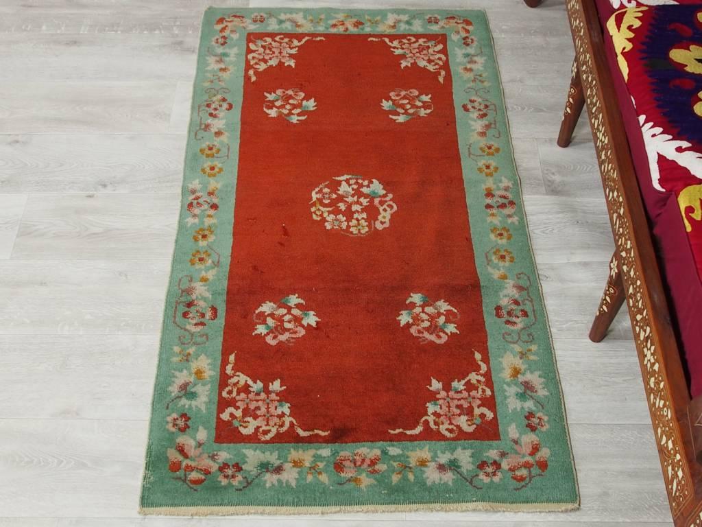 151x78 cm Antik chinesische orient Teppich Brücke antique chinese rug carpet N-6