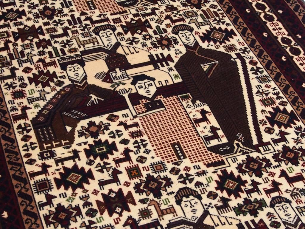 170x88 cm Afghan Nomaden Belotsch Orientteppich Wandteppich Ali khoja Nr:9