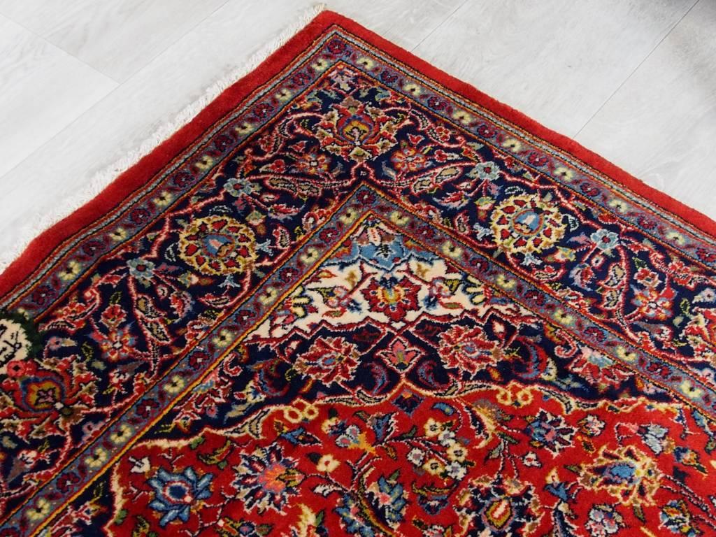 Bukhara  168x110 cm super-feine echt alter  kashan signiert Orientteppich 17/4