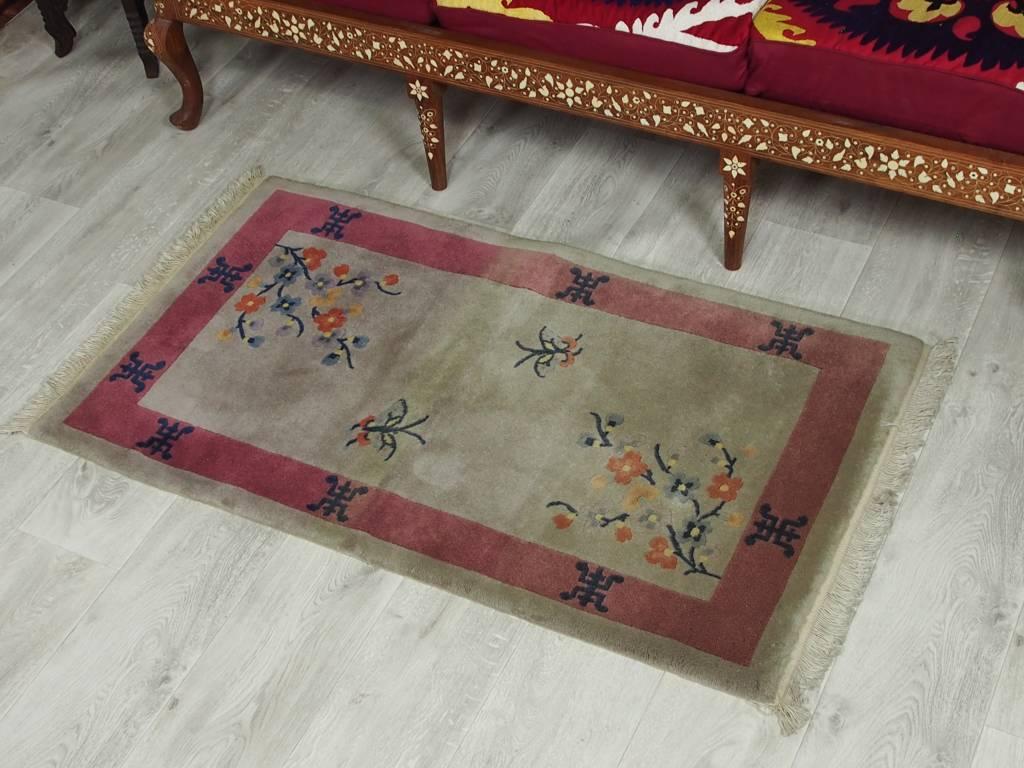 127x72 cm alte chinesische in antikem Stil Teppich Brücke chinese rug No:76