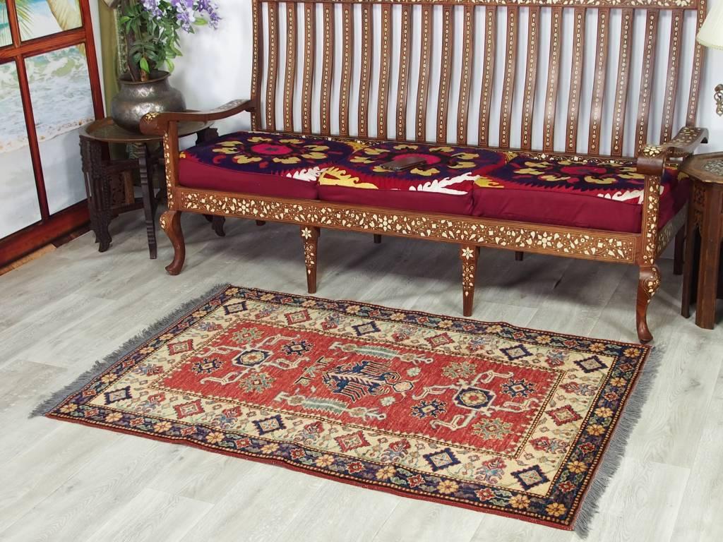 150x100 cm ziegler  Afghan orientteppich kazakh rug Carpet ziegler Nr:112