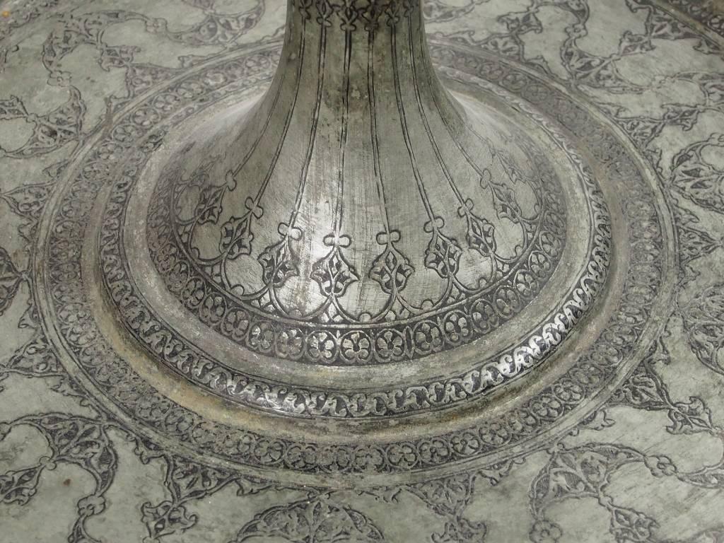 Antik islamische orient Kupfer verzinnt Öllampe Afghanistan um 19 J.h. Nr:17/125